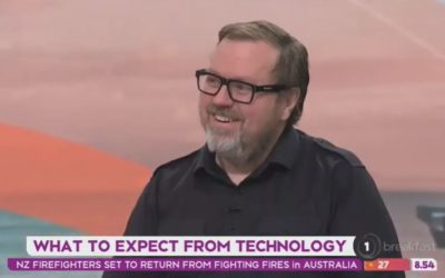 Sharing a Futurist viewpoint with John Campbell on TVNZ Breakfast
